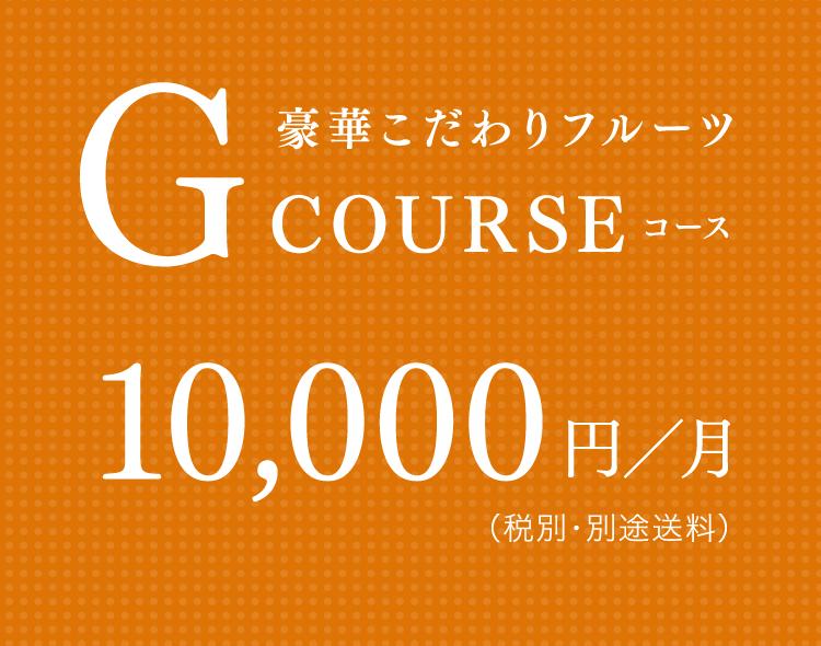 豪華こだわりフルーツ Gコース 10,000円/月(税別・別途送料)